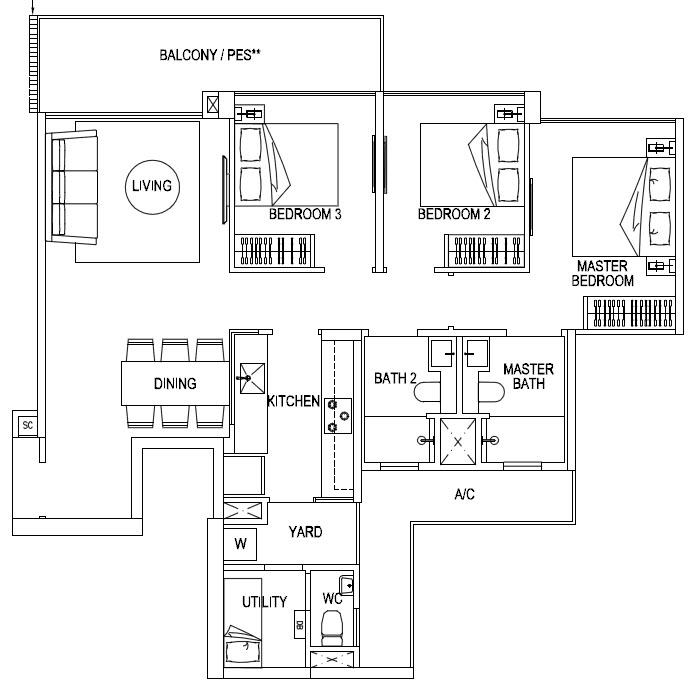 3 Bedroom Premium
